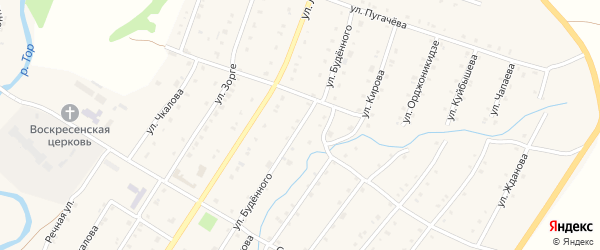 Улица Будённого на карте Воскресенского села с номерами домов