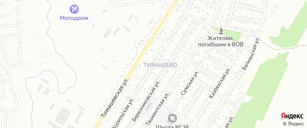 Курильская улица на карте Уфы с номерами домов