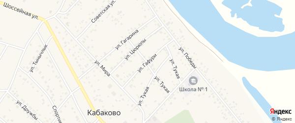 Улица Гафури на карте деревни Кабаково с номерами домов
