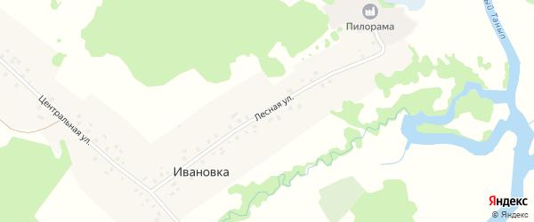 Лесная улица на карте деревни Ивановки с номерами домов