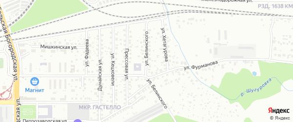 Улица Белинского на карте Уфы с номерами домов
