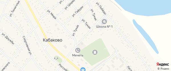 Школьная улица на карте деревни Кабаково с номерами домов