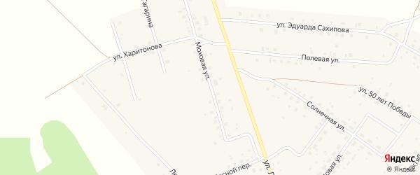 Моховая улица на карте деревни Константиновки с номерами домов