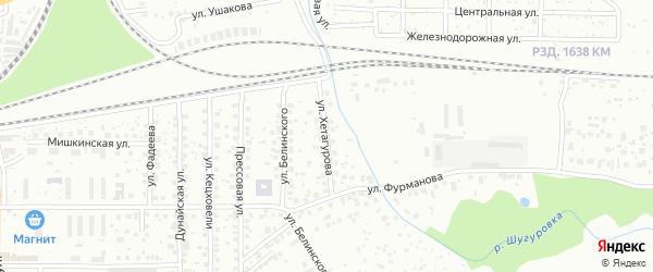 Улица Хетагурова на карте Уфы с номерами домов
