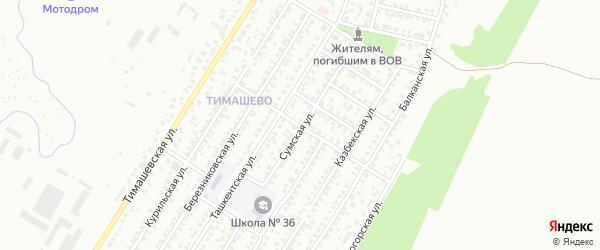 Буздякская улица на карте Уфы с номерами домов