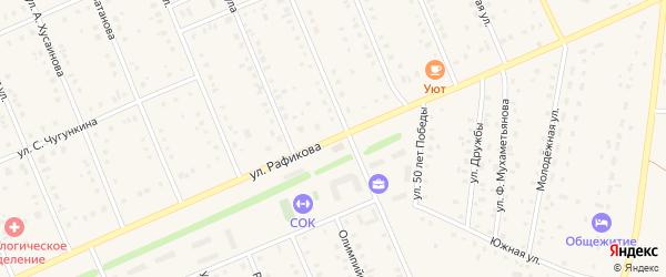 Улица Рафикова на карте села Кармаскалы с номерами домов