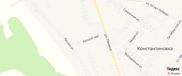 Лесной переулок на карте деревни Константиновки с номерами домов