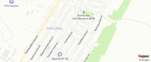 Горловская улица на карте Уфы с номерами домов