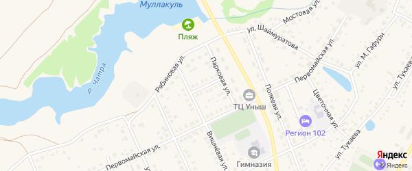Березовая улица на карте села Кармаскалы с номерами домов