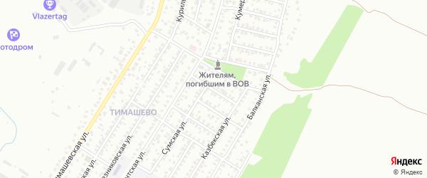 Нальчикская улица на карте Уфы с номерами домов