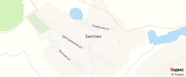 Озерная улица на карте деревни Заитово с номерами домов