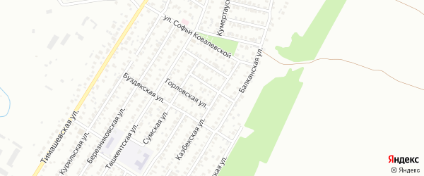 Прокопьевская улица на карте Уфы с номерами домов