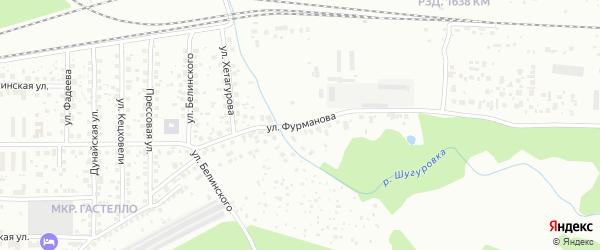 Улица Фурманова на карте Уфы с номерами домов
