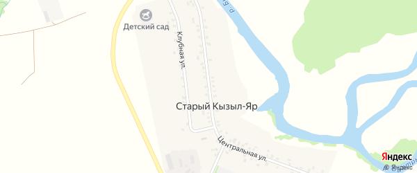 Центральная улица на карте деревни Старый Кызыл-Яр с номерами домов