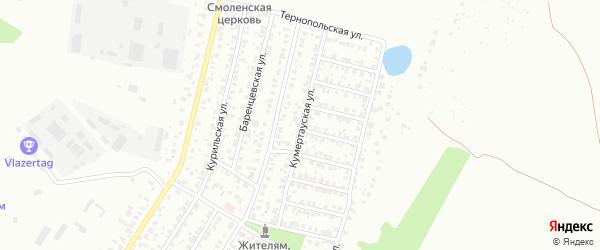 Кумертауская улица на карте Уфы с номерами домов