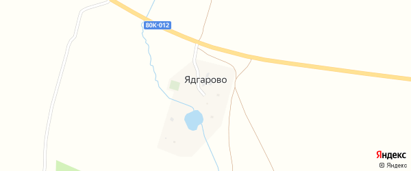 Улица Ежова на карте деревни Ядгарово с номерами домов
