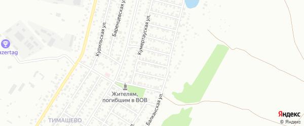 Котласская улица на карте Уфы с номерами домов