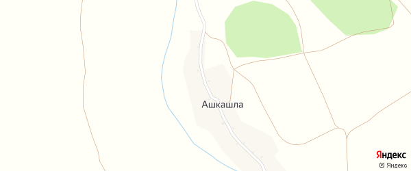 Крюковская улица на карте деревни Ашкашлы с номерами домов