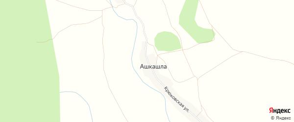 Карта деревни Ашкашлы в Башкортостане с улицами и номерами домов
