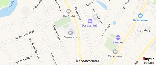Парковая улица на карте села Кармаскалы с номерами домов