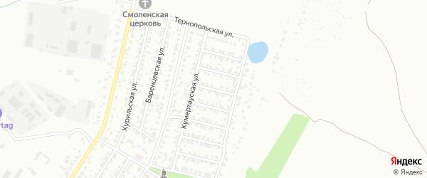 Сызранская улица на карте Уфы с номерами домов