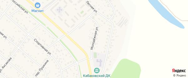 Молодежная улица на карте деревни Кабаково с номерами домов