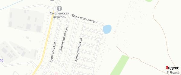 Шахтинская улица на карте Уфы с номерами домов