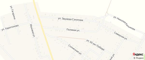 Полевая улица на карте деревни Константиновки с номерами домов