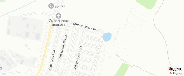 Андижанская улица на карте Уфы с номерами домов