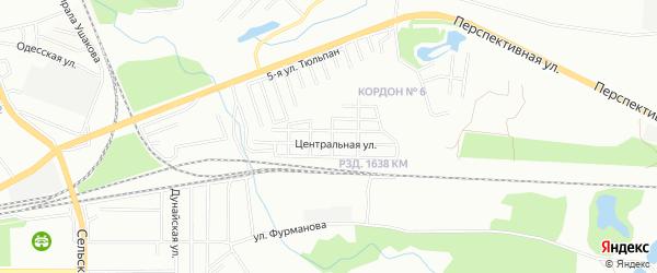 СНТ Коллективный сад N5 на карте Уфимского района с номерами домов