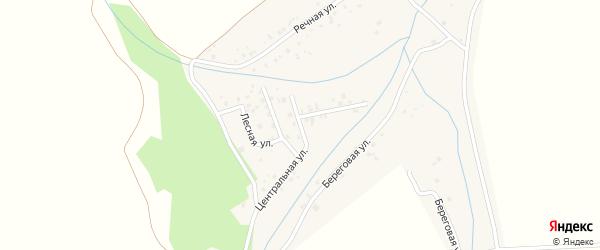 Западная улица на карте деревни Новониколаевки с номерами домов