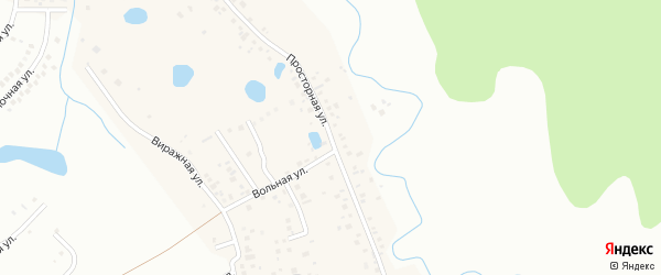Просторная улица на карте деревни Самохваловки с номерами домов