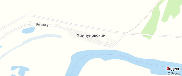 Речная улица на карте Хрипуновского хутора с номерами домов