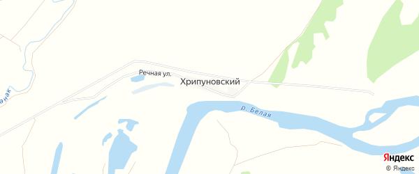 Карта Хрипуновского хутора в Башкортостане с улицами и номерами домов