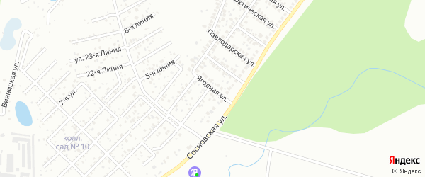 Ягодная улица на карте Уфы с номерами домов
