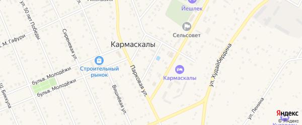 Озерная улица на карте села Кармаскалы с номерами домов