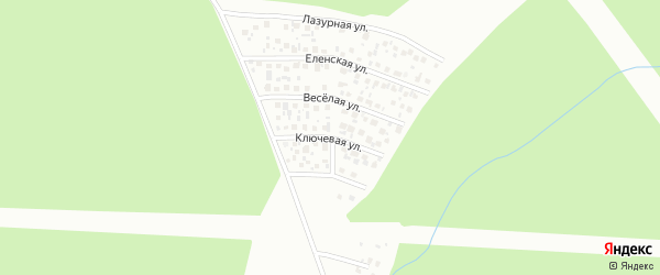 Ключевая улица на карте Уфы с номерами домов