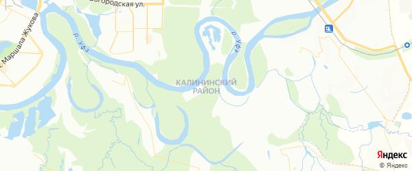 Карта Калининского сельсовета республики Башкортостан с районами, улицами и номерами домов