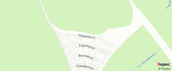 Лазурная улица на карте Октябрьского с номерами домов