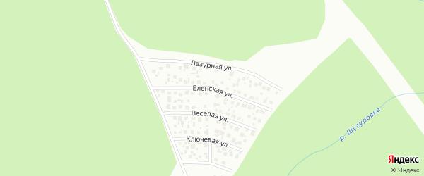 Еленская улица на карте Уфы с номерами домов