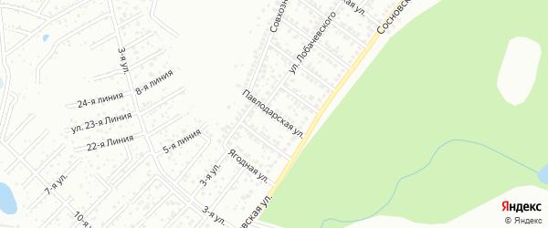 Павлодарская улица на карте Уфы с номерами домов
