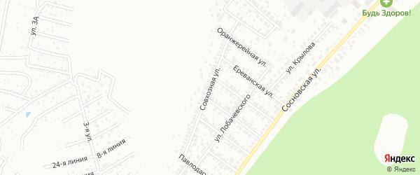 Совхозная улица на карте Уфы с номерами домов