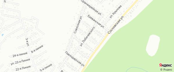 Улица Лобачевского на карте Уфы с номерами домов