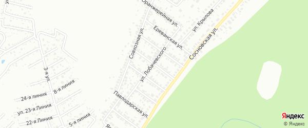 Авангардная улица на карте Уфы с номерами домов