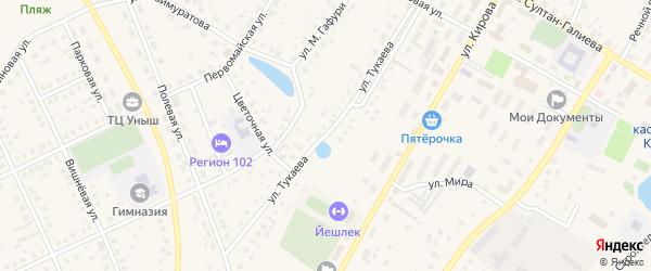 Улица Тукаева на карте села Кармаскалы с номерами домов