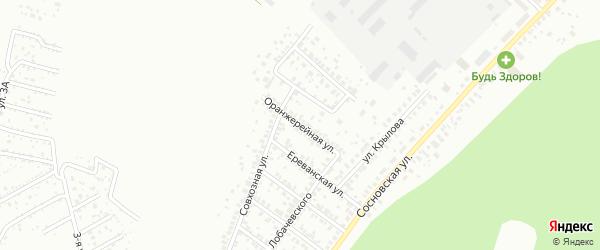 Оранжерейная улица на карте Уфы с номерами домов