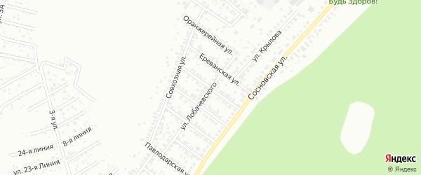 Улица Новаторов на карте Уфы с номерами домов