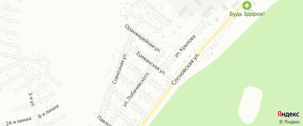 Ереванская улица на карте Уфы с номерами домов