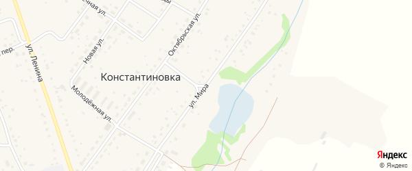 Улица Мира на карте деревни Константиновки с номерами домов