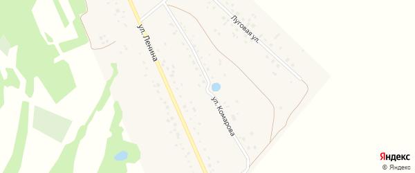 Улица Комарова на карте деревни Константиновки с номерами домов